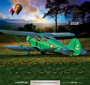 2018 Goodyear Aviation Wall Calendar
