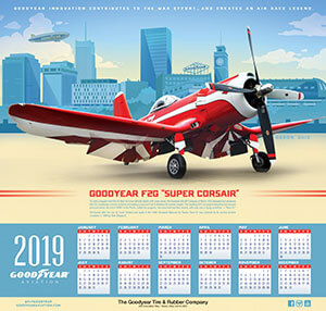 2019 Goodyear Aviation Wall Calendar Cover