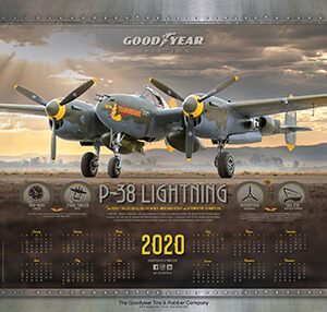 2020 Goodyear Aviation Wall Calendar Cover