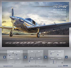 2021 Goodyear Aviation Wall Calendar Cover