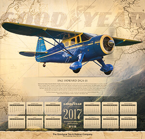 2017 Goodyear Aviation Wall Calendar